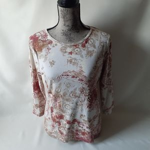 Sonoma women's floral print long sleeve top